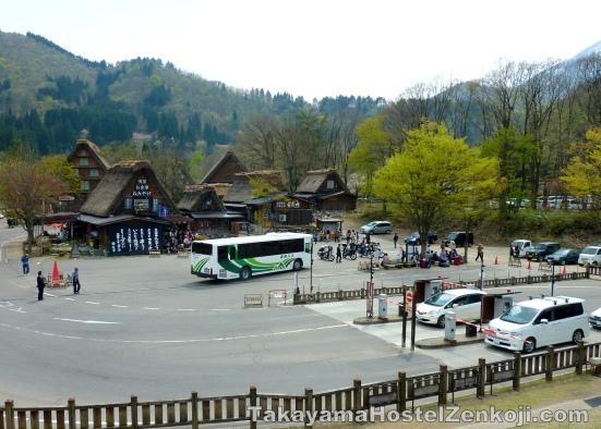Bus Drop off and boarding area at Shirakawago