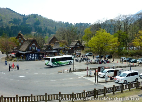 Bus Drop off and boarding area at Shirakawago