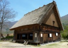 Thatch roofed house in the paid open air museum area